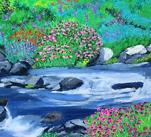 Spring flowers by the creek by maggie326