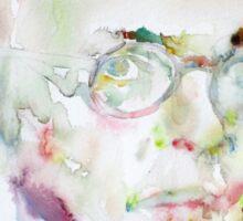 SARTRE - watercolor portrait.2 Sticker