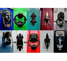 Door Knockers - Canterbury Photographic Print