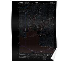 USGS Topo Map Washington State WA Rosburg 20110914 TM Inverted Poster