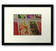 ribbon candy Framed Print