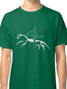 Cern Abbas Giant rides the white horse Classic T-Shirt