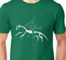 Cern Abbas Giant rides the white horse Unisex T-Shirt