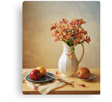 Lilies and Apples Canvas Print