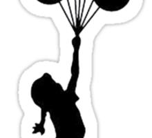 Girl floating away Sticker