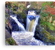 Pecca Twin Falls, Ingleton, North Yorkshire - HDR Canvas Print