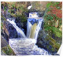 Pecca Twin Falls, Ingleton, North Yorkshire - HDR Poster
