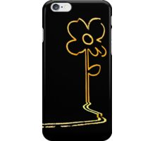 Banksy's wall flower iPhone Case/Skin
