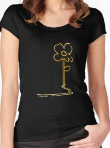 Banksy's wall flower Women's Fitted Scoop T-Shirt