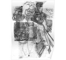 Mechanics of a Drawing - Portrait Study 2. Poster