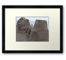 Where The Man Is Taking The World? - A Donde El Hombre Lleva El Mundo Framed Print