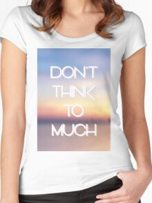 hipster background Women's Fitted Scoop T-Shirt