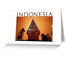 INDONESIA Greeting Card
