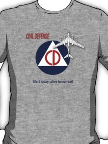 Civil Defense - Bomber T-Shirt