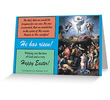 """Raphael's """"Transfiguration,"""" the Ascent of Christ, 1516 Greeting Card"""