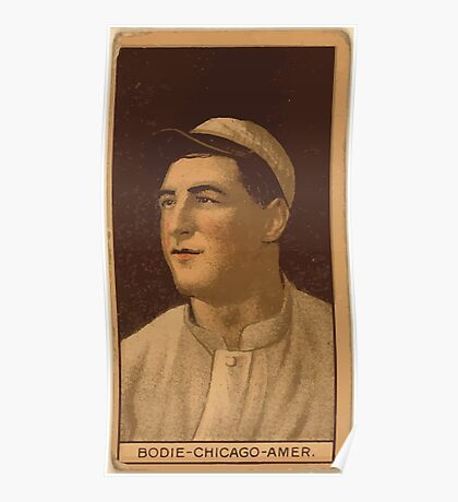 Benjamin K Edwards Collection Ping Bodie Chicago White Sox baseball card portrait Poster