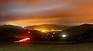Hayfield by night by Mark Smitham