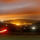 Hayfield by night by Mark Smitham