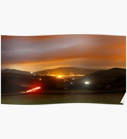 Hayfield by night Poster