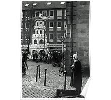 Busking Violinist Poster