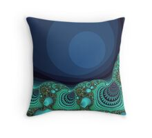 Seashells by the Sea Fractal Throw Pillow
