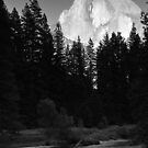 Late afternoon sun on Half Dome by Peter Dickinson