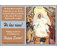 """Orthodox Icon of the """"Resurrection of Jesus"""" Photographic Print"""