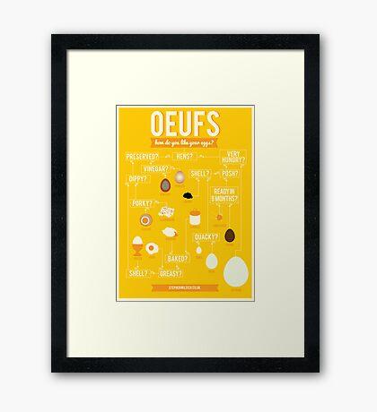 Oeufs Framed Print