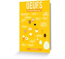 Oeufs Greeting Card
