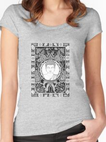 Coota Art, Buddha Women's Fitted Scoop T-Shirt