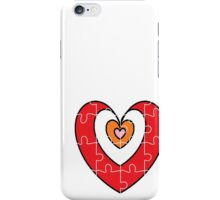 hearts puzzle for iPhone iPhone Case/Skin