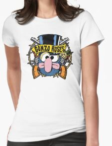 Gonzo Roses Womens Fitted T-Shirt