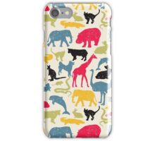 Retro animals iPhone Case/Skin