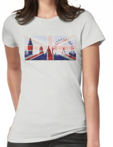 London city skyline Womens Fitted T-Shirt