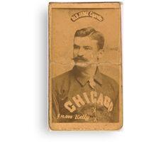 Benjamin K Edwards Collection King Kelly Chicago White Stockings baseball card portrait Canvas Print