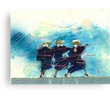 Autumn Blue & Pink Canvas Print