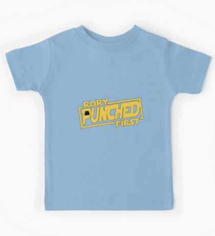 Rory punched first - Star Wars Doctor Who meshup Kids Tee
