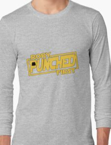 Rory punched first - Star Wars Doctor Who meshup Long Sleeve T-Shirt