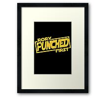 Rory punched first - Star Wars Doctor Who meshup Framed Print