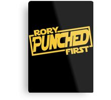 Rory punched first - Star Wars Doctor Who meshup Metal Print