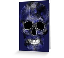 Blue Washed Skull Greeting Card