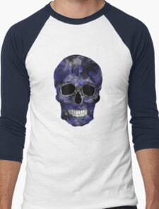 Blue Washed Skull Men's Baseball ¾ T-Shirt