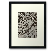 wall texture with pattern Framed Print