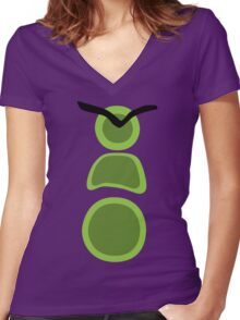 Day of the tentacle Women's Fitted V-Neck T-Shirt