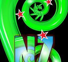 New Zealand Koru v2 by Brian Gibbs