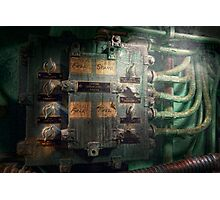 Steampunk - Naval - Electric - Lighting control panel Photographic Print