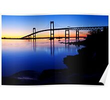 Newport(Pell)Bridge Silhouette Poster