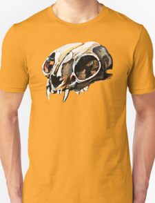 Dead Animal Skull Bones Cat T-Shirt