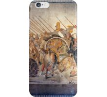 Battle of Alexander the Great and Darius III mosaic  iPhone Case/Skin