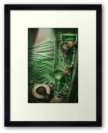 Steampunk - Naval - Plumbing - The head by Mike  Savad